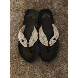 Roxy Shoes - Lace Strap Sandals + free old navy flip flops!